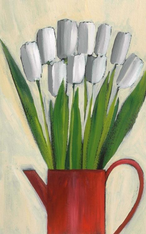 Ten White Tulips - Image 0