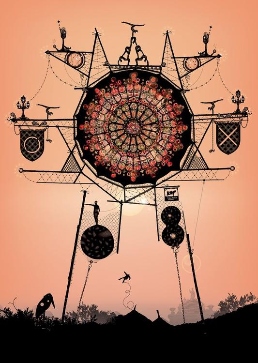 Ferris Wheel, Rose, Sunset - Image 0