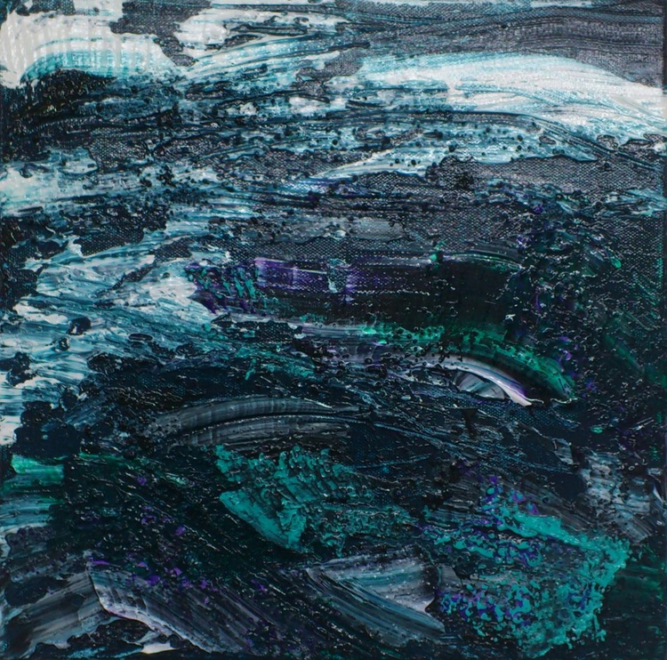 Blue Green Water #16008 (30x30cm) - Image 0