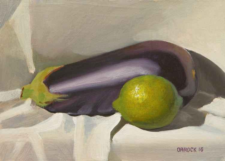 Lime and Aubergine