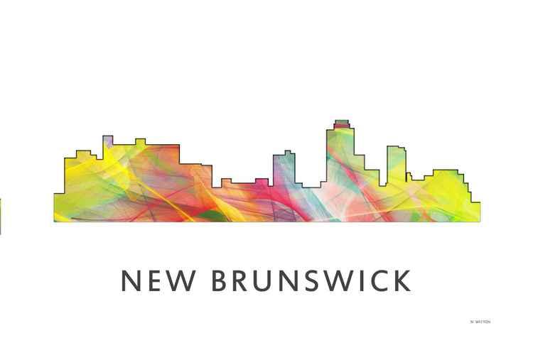 New Brunswick New Jersey Skyline WB1
