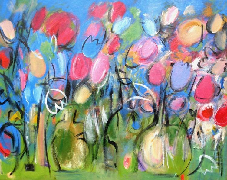 Three Vases of Flowers - Image 0