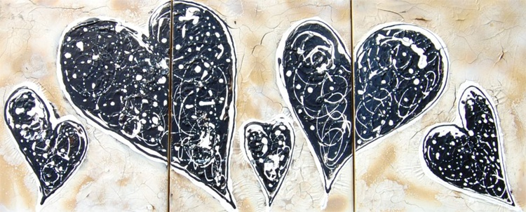 Burnished Heart Triptych - Image 0