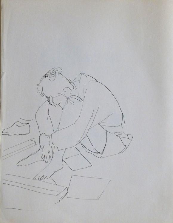Student 10, 24x31 cm - Image 0