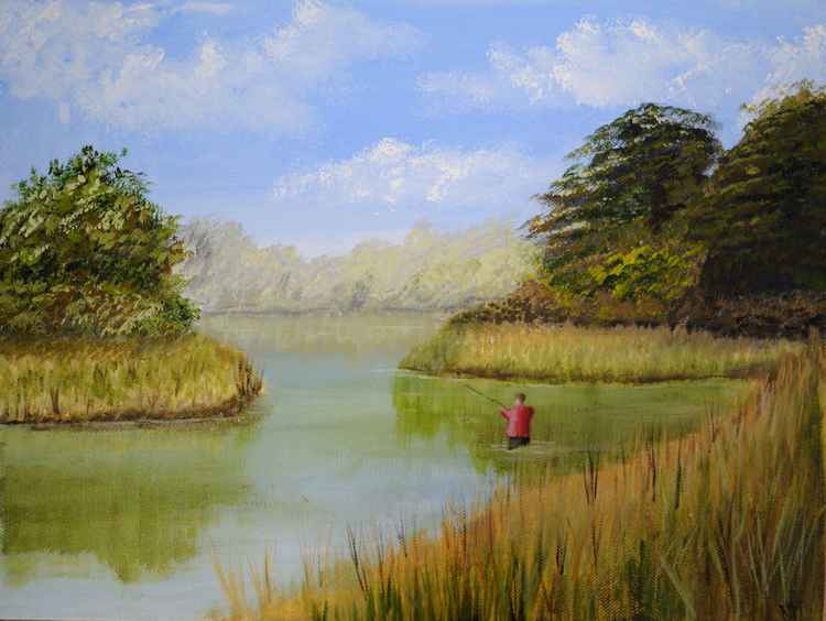 Boy Fishing -