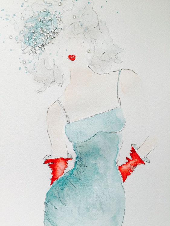 Little Teal Dress - Image 0