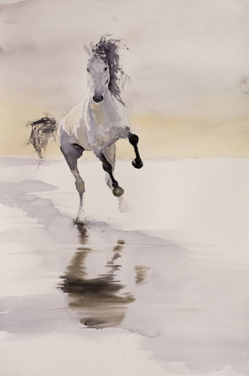 """JANGO"", original watercolour painting, 15.2""x22.8""(38x57cm), ready to hang - Image 0"