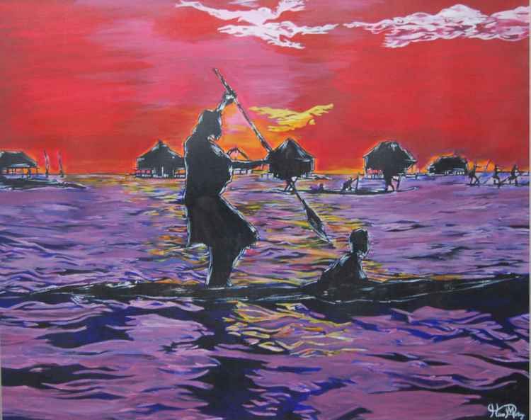 fisherman ( sunset )