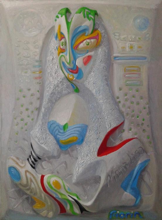 """""""White Mona Lisa """"  (Joconde 4) - Image 0"""