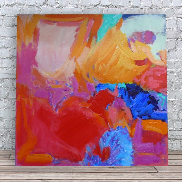 """For The Love Of Color 30"""" x 30""""/76 x 76cm - Image 0"""