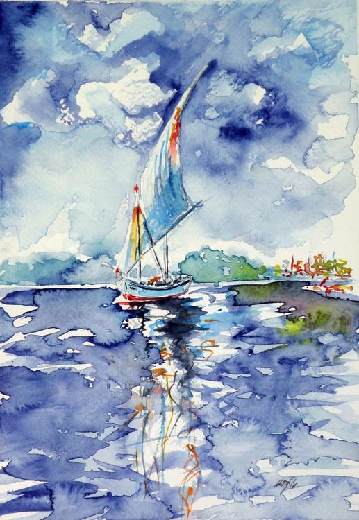 Sailboat on sea - Image 0