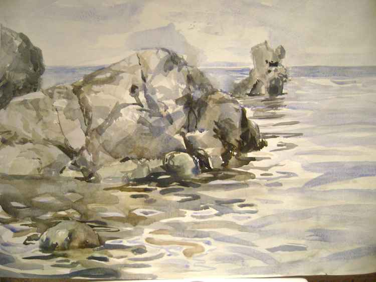 Seascape with rocks 4