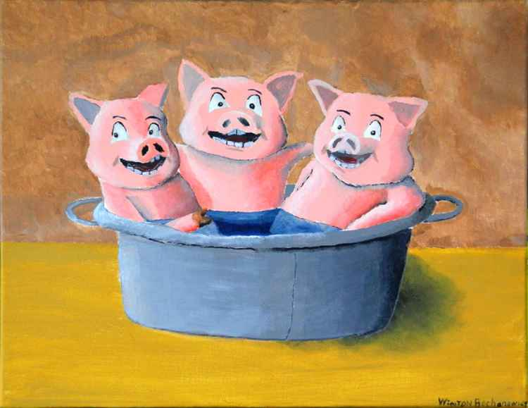 Three Pigs in a Tub