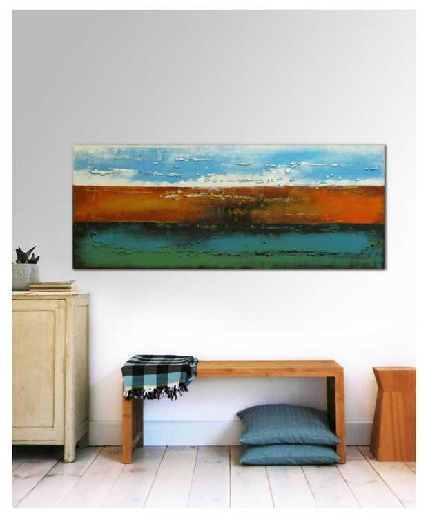Abstract Painting - Three Lined Landscape - A10 - Image 0
