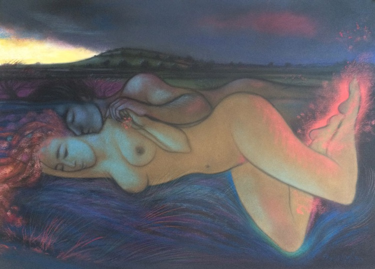 Almost daybreak - dreaming of the man she loves - Image 0