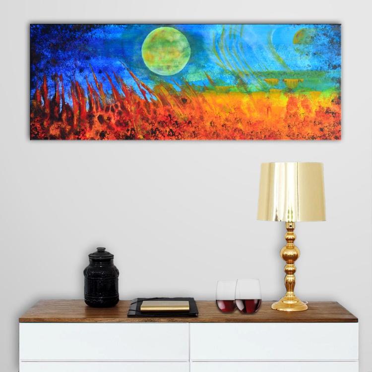 Fantasy Organic Abstract Landscape - Deep Edge Canvas - Image 0