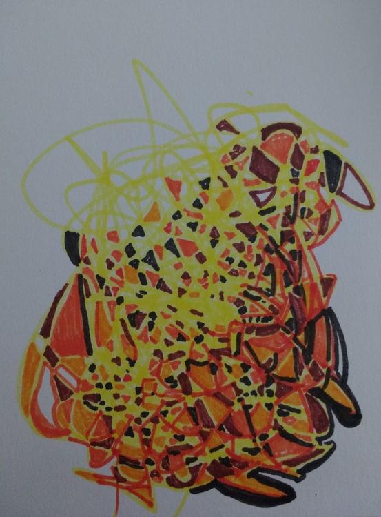 Little Satsuma Energy Drawing (13cm x 14cm) - Image 0