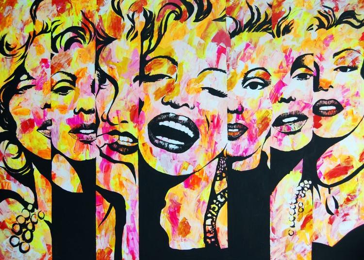 MARILYN LARGE MODERN WALL ART - Image 0