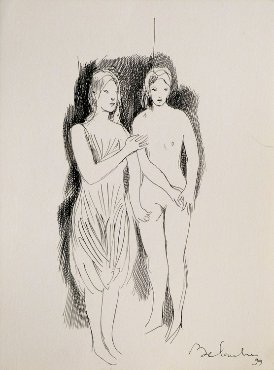 Classical drawing, 24x32 cm - Image 0