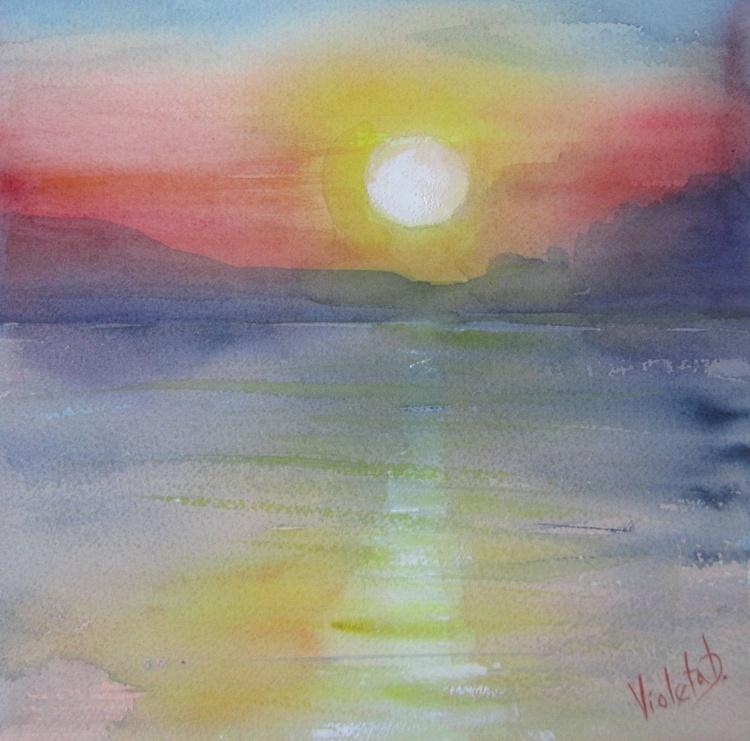Homage to J.M.W. Turner: Sunrise in Santorini, Greece 4 - Image 0