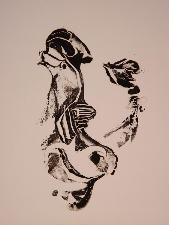 Monotype / monoprint  #5, 65x50 cm - Image 0