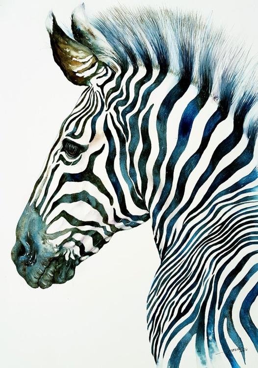 Midnight Blue Zebra - Image 0