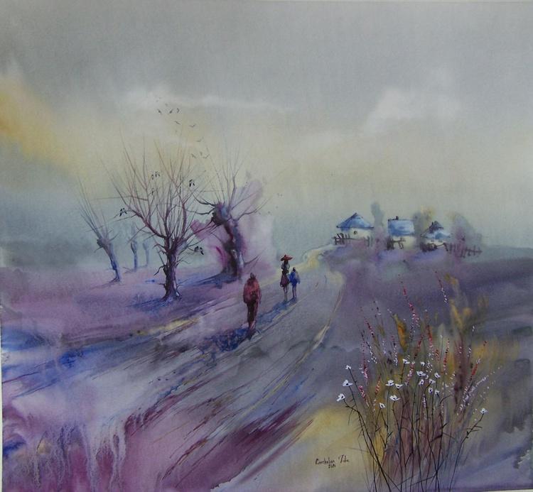 """""""Sunset. Purple mood"""" SOLD - Image 0"""