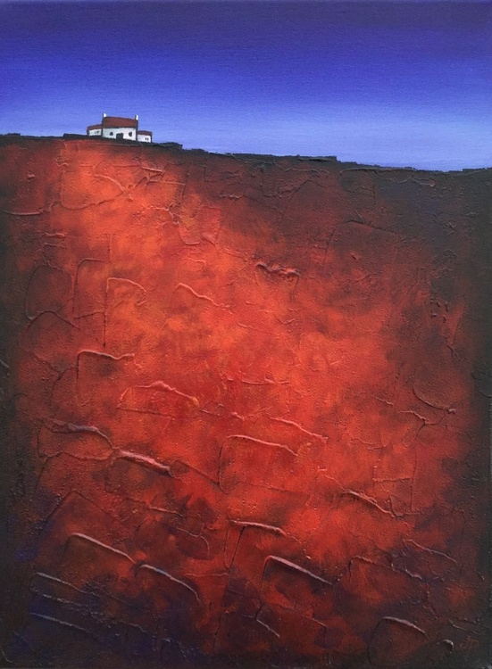 Red Field, Textured Landscape - Image 0