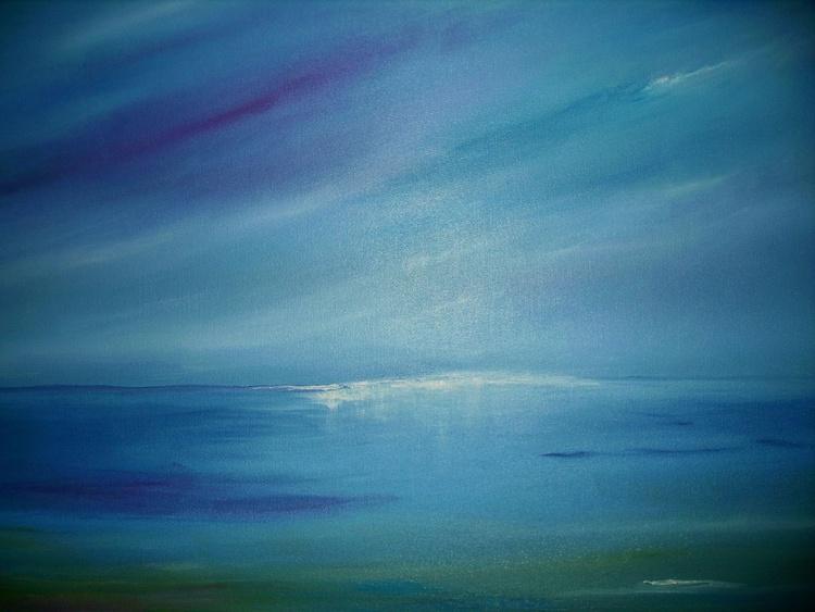 A sky and seascape, peacefull  summer  on the Coast of Isle of Eigg Scotland - Image 0