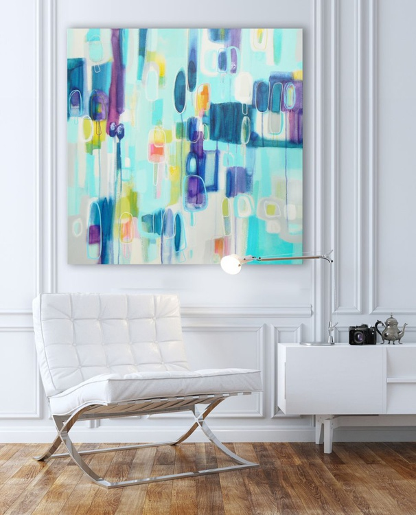 lollipops and rainbows (can't wait for summer) 76cm x 76 cm - Image 0