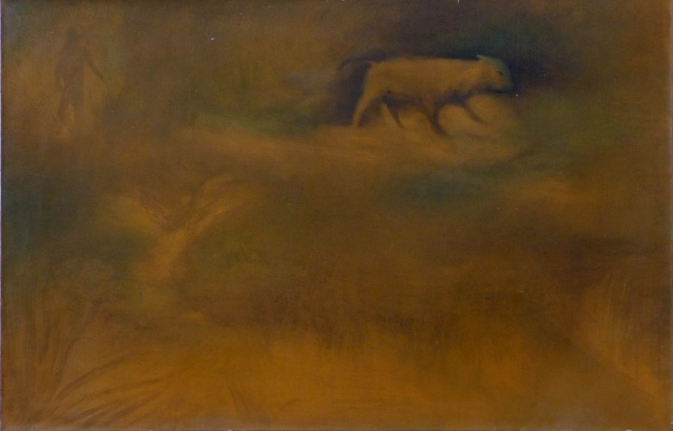 Wild Pig, oil on canvas 92x60 cm - Image 0