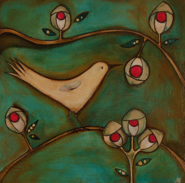 Bird in a Rose Garden.. - Image 0