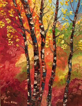 Autumn Birches by Warm Sea Shells