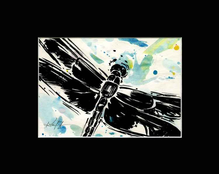 Dragonfly - Abstract Illustration Painting -