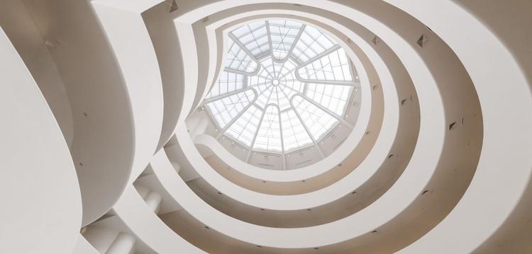 Guggenheim Interior Panorama. (254x127cm) - Image 0