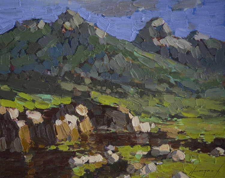 Grand Teton National Park Original oil Painting on Canvas - Image 0