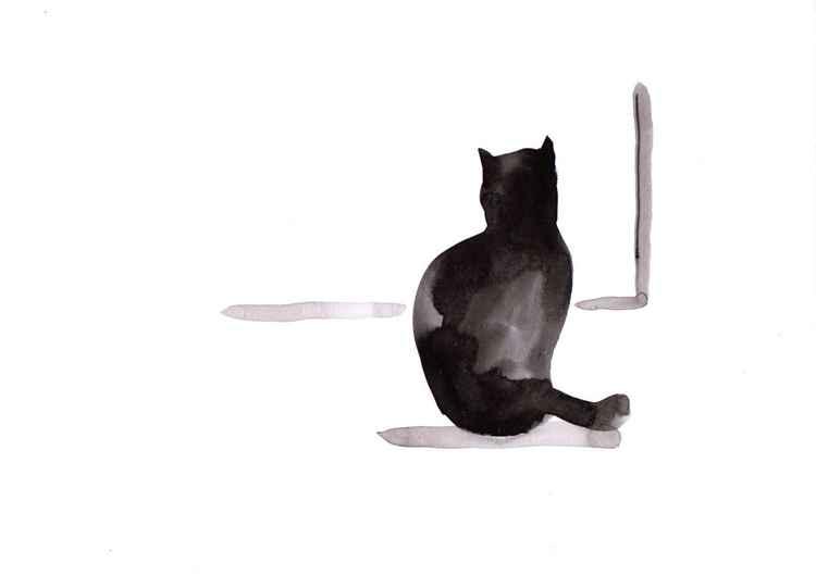 Cat at a window 2130B