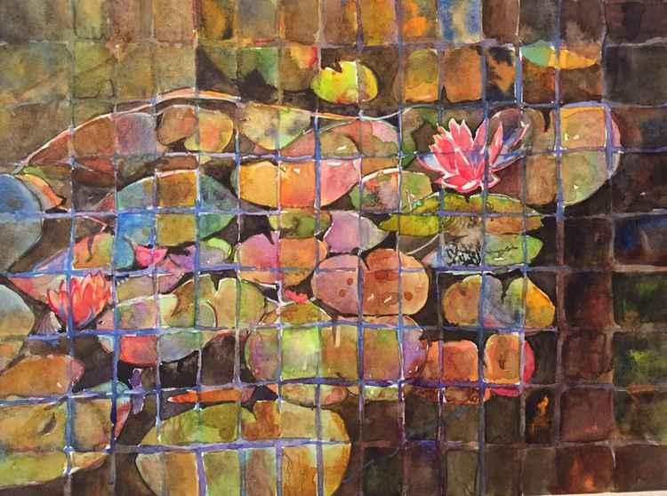Lilies under Glass -