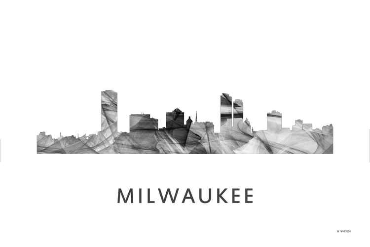 Milwaukee Wisconson Skyline WB BW