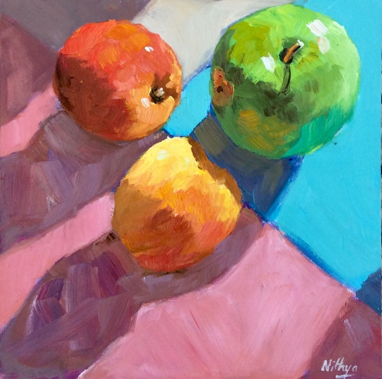 One vs Two! - Sunlit Still Life in Oils - Image 0