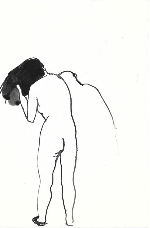 Nude washing 3, 16x24 cm - Image 0