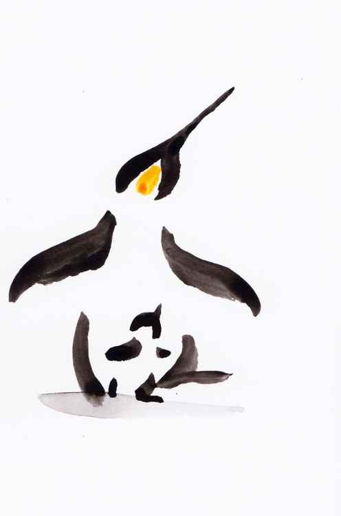 Penguin and a chick 1015F -