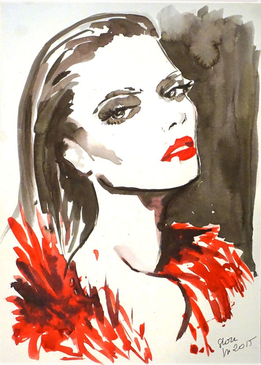 Red lips - Image 0