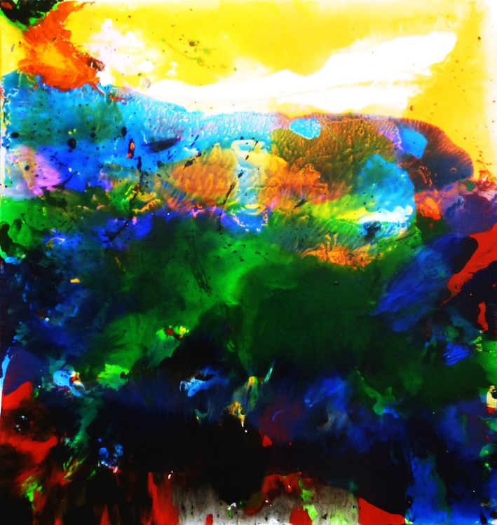Abstract landscape. 90x95 cm - Image 0