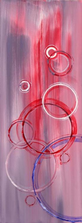 Abstract Bubbles - Long Deep Edge Canvas Ready To Hang - Image 0