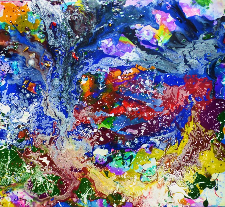 Abstract landscape. 95x105cm - Image 0