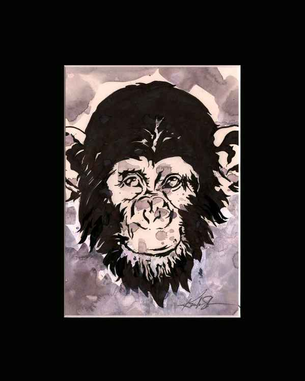 Chimpanzee 3 - Abstract Illustration Painting -