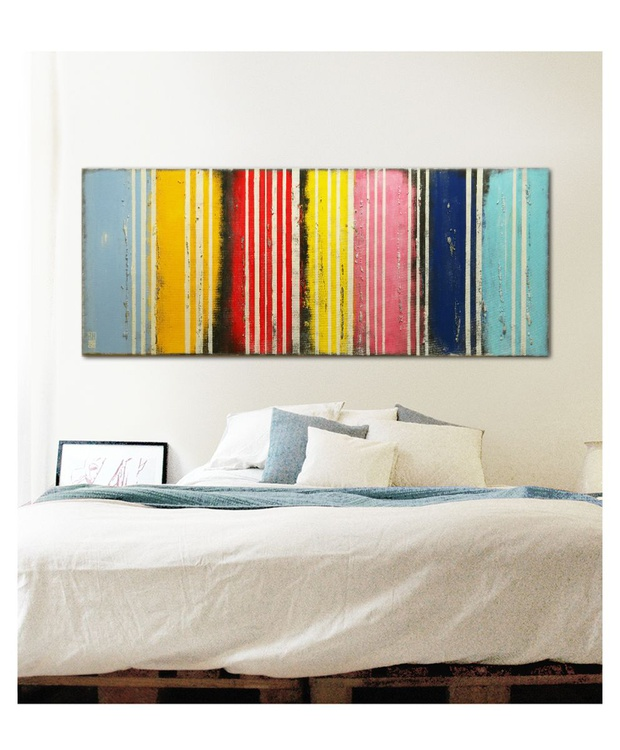 Abstract Painting - Striped Colors on Colors - C8 - Image 0