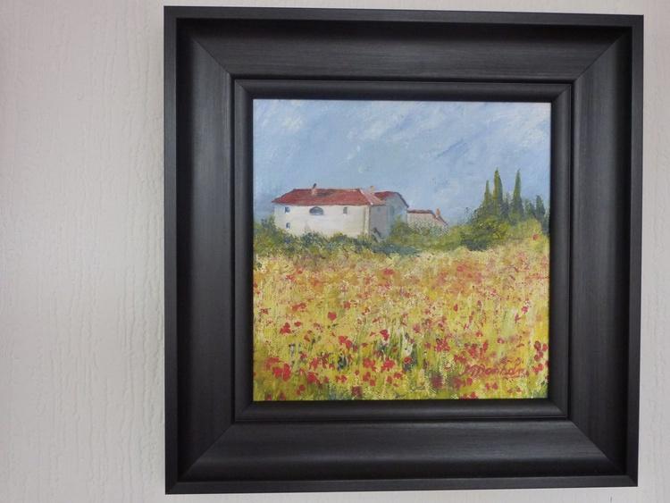French Farm & Poppy Field - Image 0