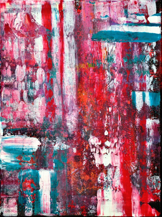 Abstract Home Decor 103 - Original Acrylic Painting Art on Canvas Ready To Hang - Image 0